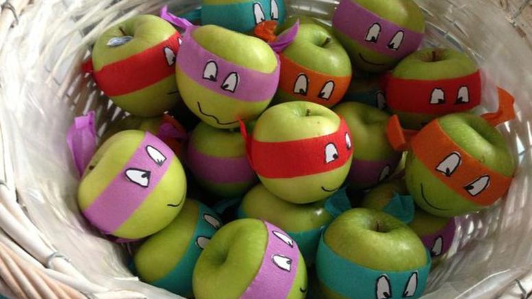 ninja turtles appels voor jongens gezonde traktatie