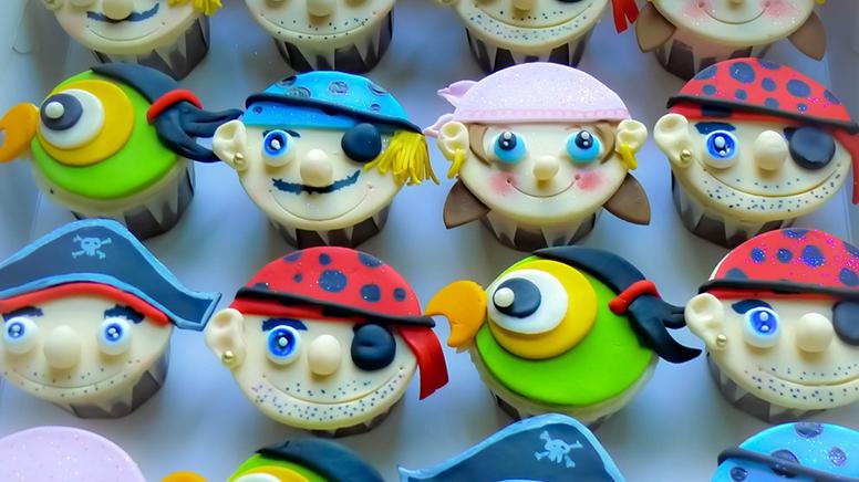 piraten cupcakes voor jongens van vijf jaar