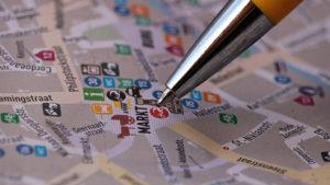 plattegrond speurtocht markt pen zoeken